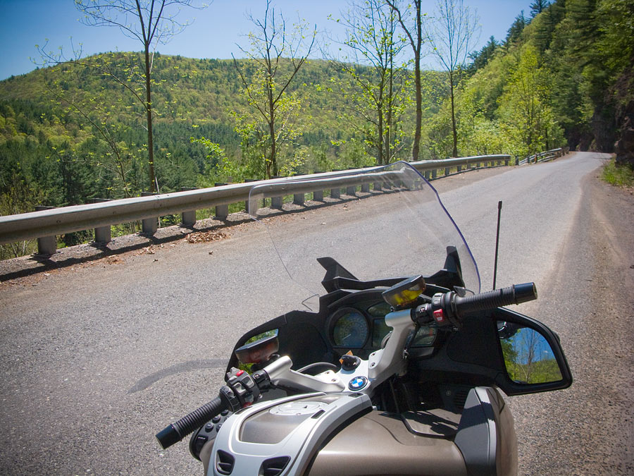 BMW R1200 RT motorcycle in north central Pennsylvania