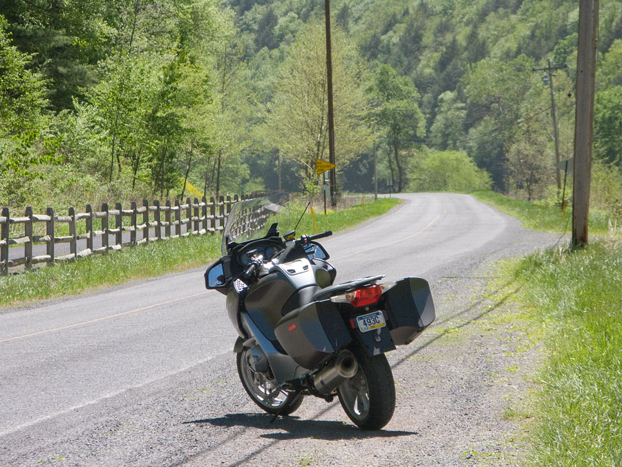 BMW R1200 RT motorcycle at Ross Siding