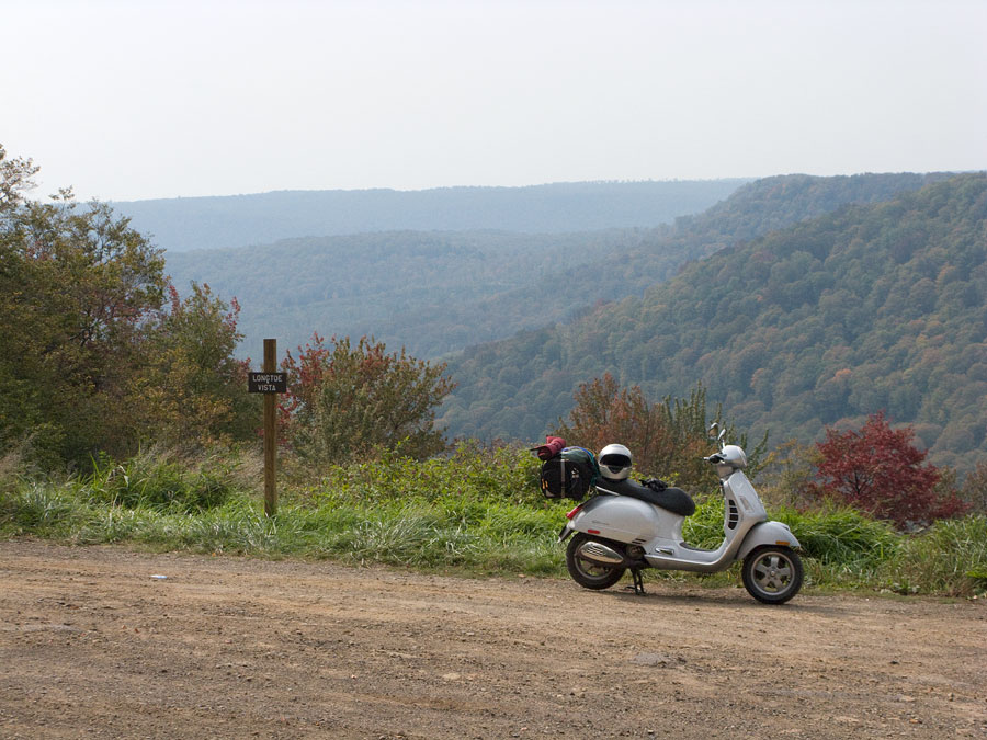 Vespa GTS scooter in Potter County