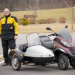 A Piaggio MP3 with a Sidecar