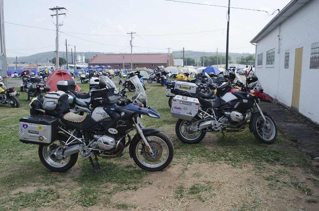 Motorcycles at BMW Rally