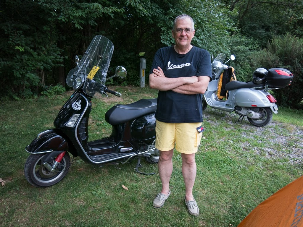 David Masse and his Vespa scooter