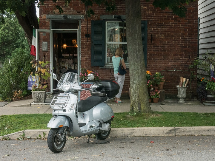 Vespa GTS scooter in Boalsburg, Pennsylvania