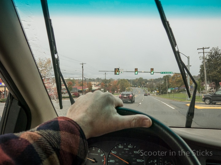 View from a Honda Odyssey van