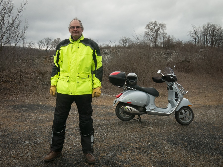 Steve Williams and his Vespa GTS scooter