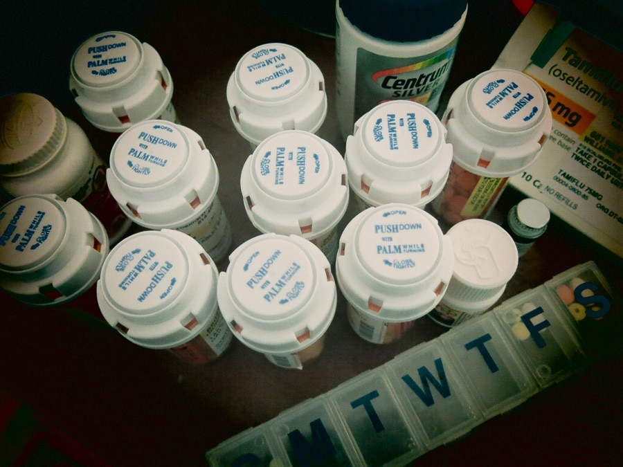 array of medications