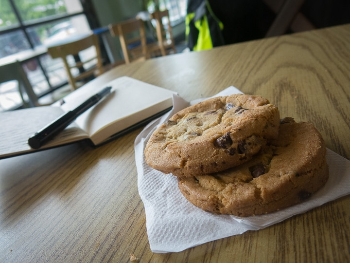 cookies in the Pump Station Cafe