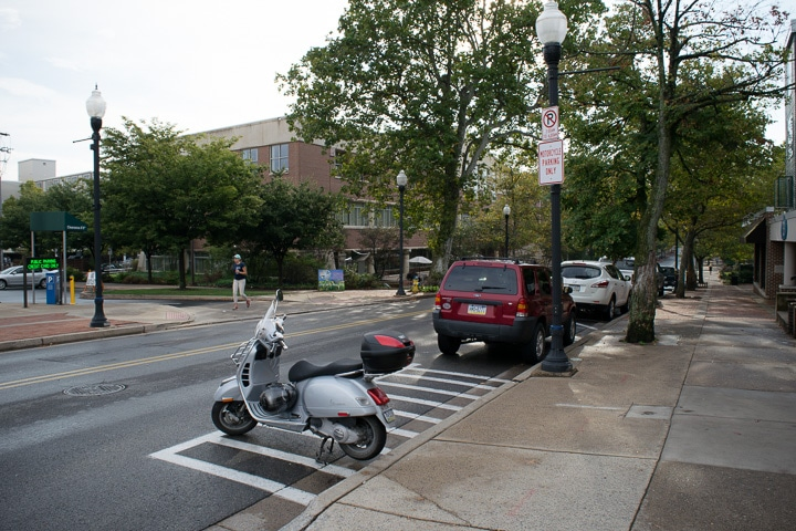 Vespa GTS scooter in State College, Pennsylvania