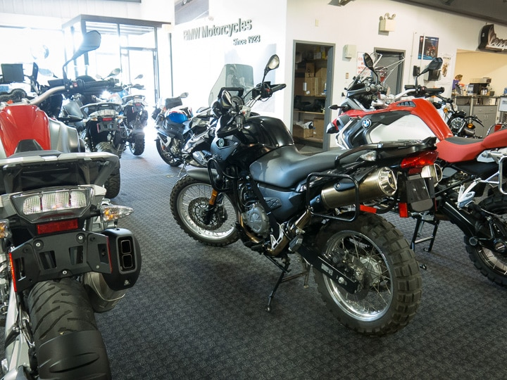 BMW G650 GS motorcycle at Kissell Motorsports