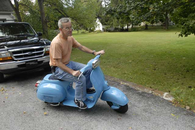 New Old Vespa Scooter In The Sticks