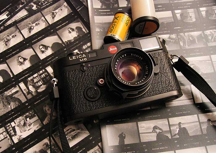 Leica M6 with Tri-X film and contact sheets