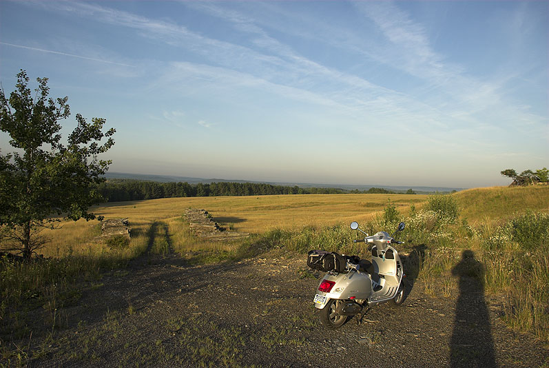 Vespa overlooking the Moshannon Valley