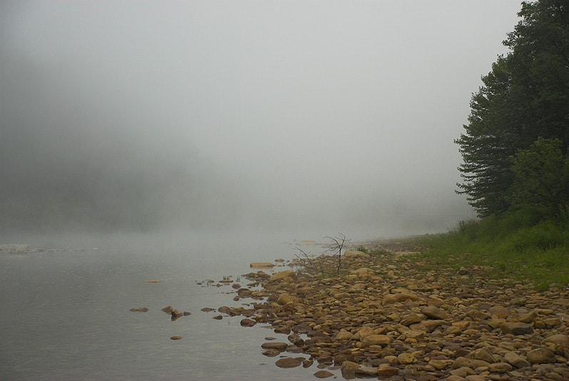 Fog on the west branch of the Susquehanna River
