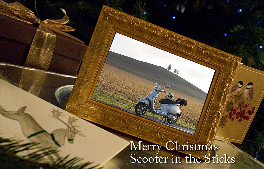 Christmas greeting from Scooter in the Sticks