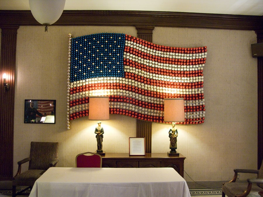 American Flag in Wellsboro Hotel