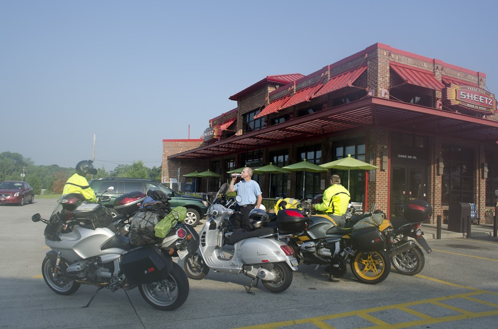 motorcycle and scooters at Sheetz