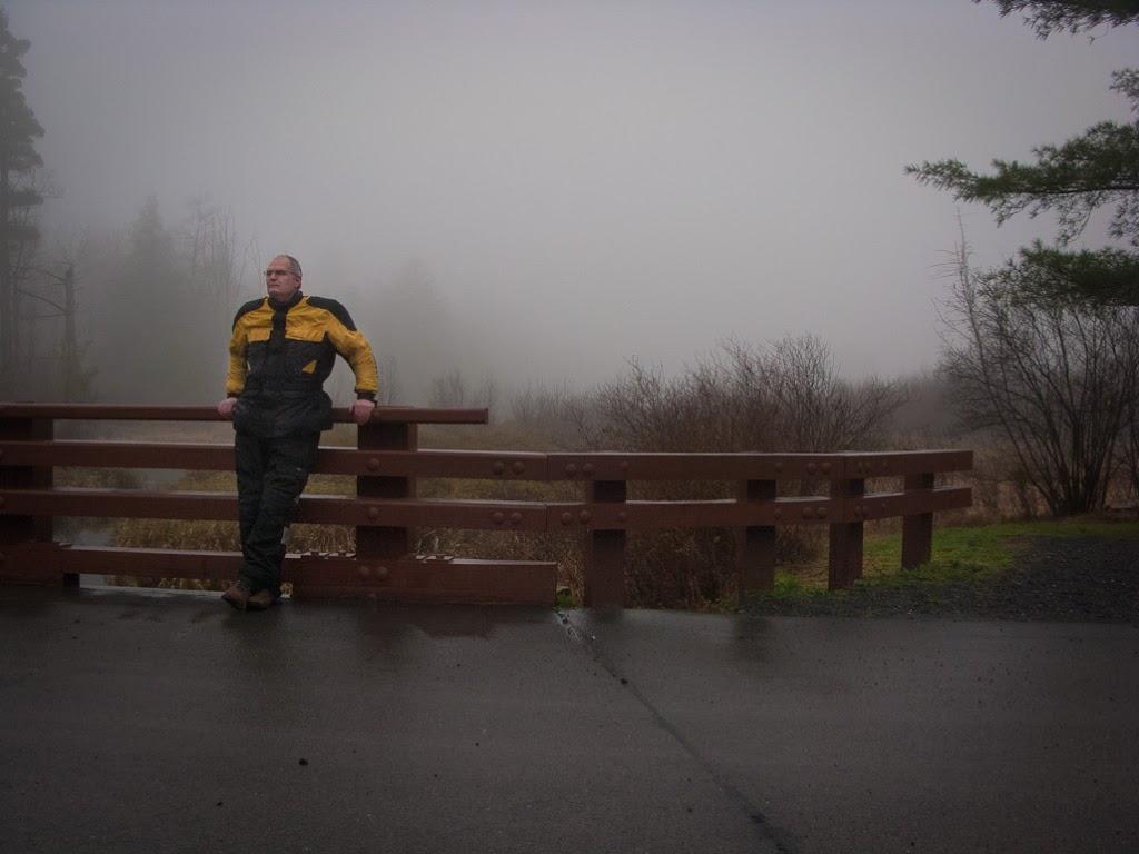 Steve Williams, Vespa rider, at Bear Meadows