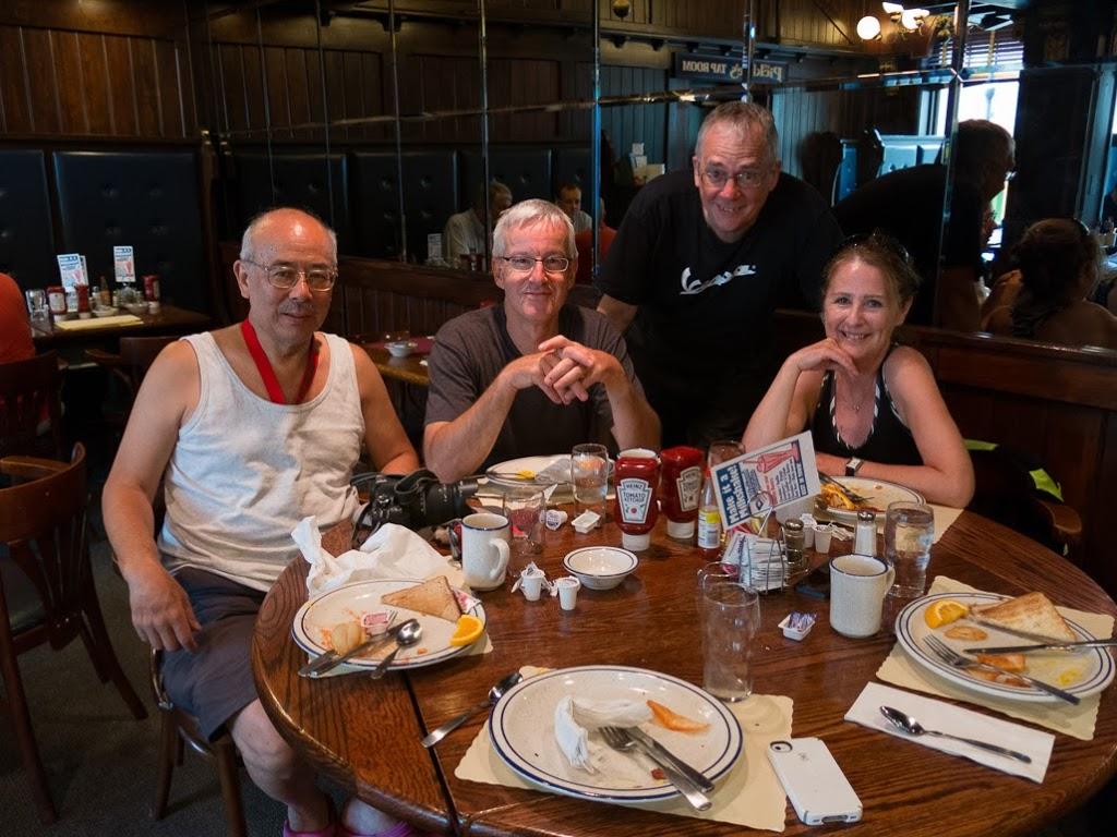 Bob Leong, Paul Ruby, David Masse and Karen - aka V-Star Lady.