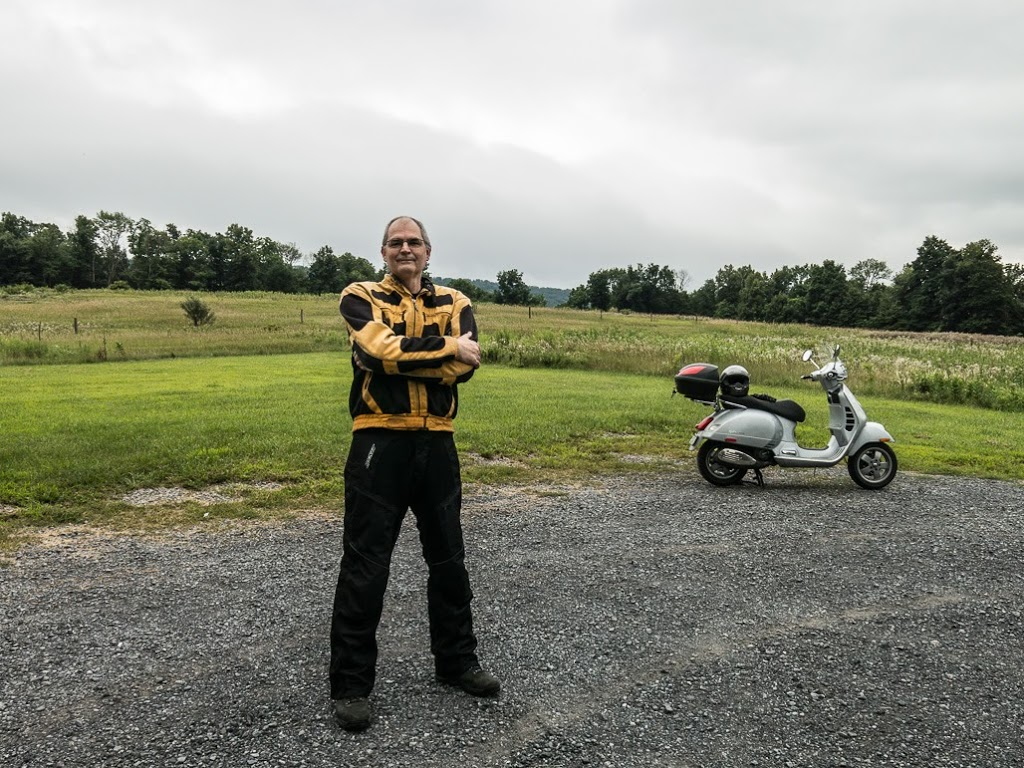 Steve Williams with his Vespa GTS scooter
