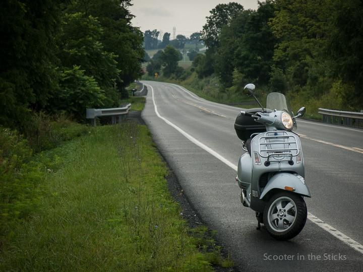 Vespa GTS 250ie along PA Route 45