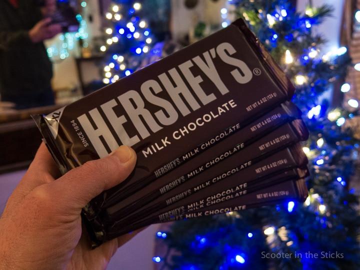 Hershey's milk chocolate at Christmas