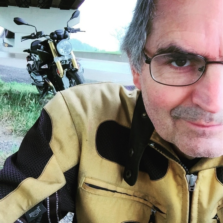 Steve Williams motorcycle selfie