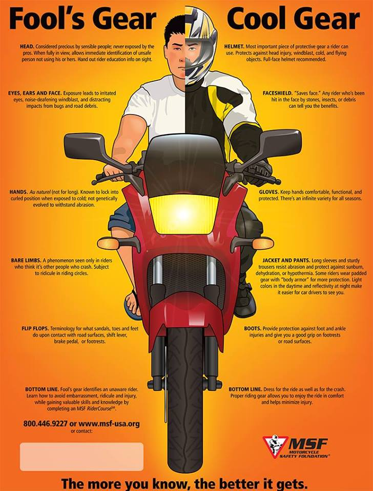 Awesome Moped Riding Gear #2: MSF Info Graphic On Riding Gear