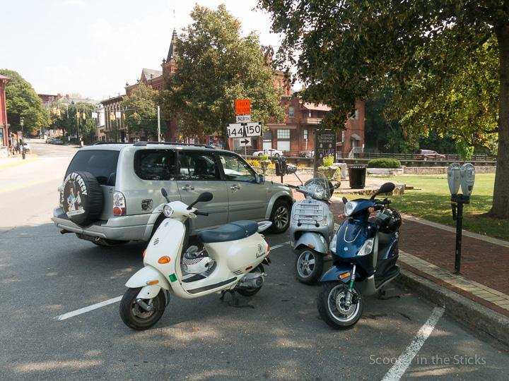 Vespa scooters in Bellefonte, Pennsylvania