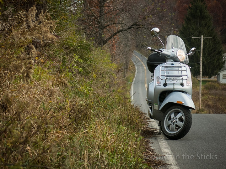 Vespa GTS scooter in central Pennsylvania