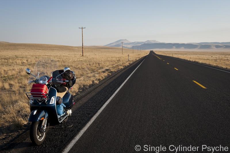 Vespa in the Oregon desert