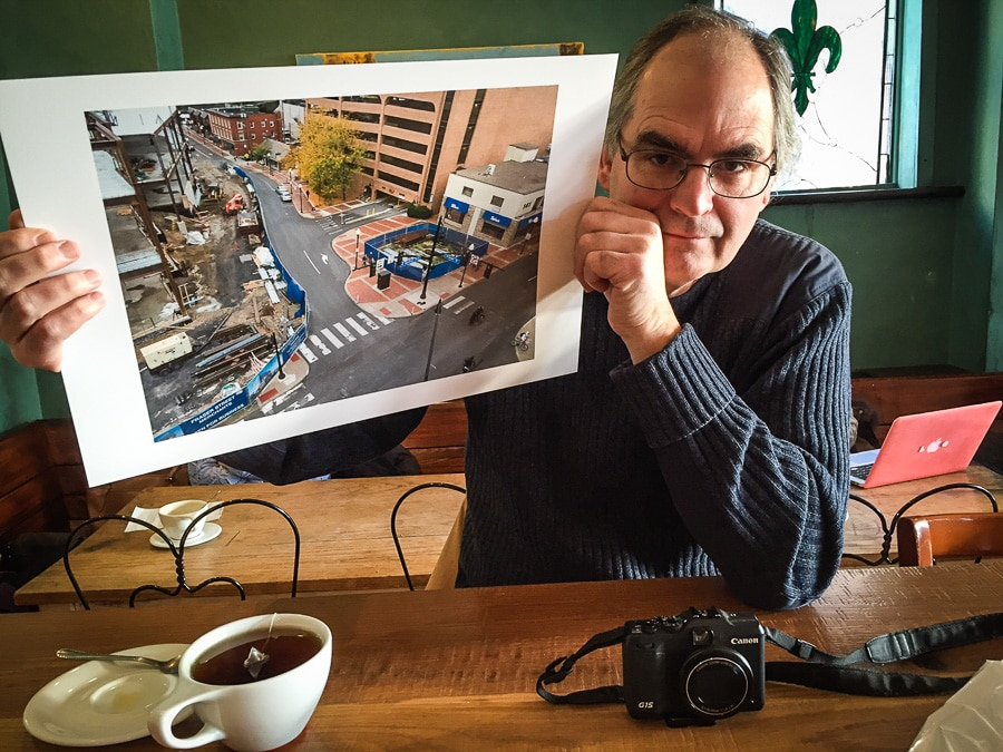 Steve Williams with new digital print