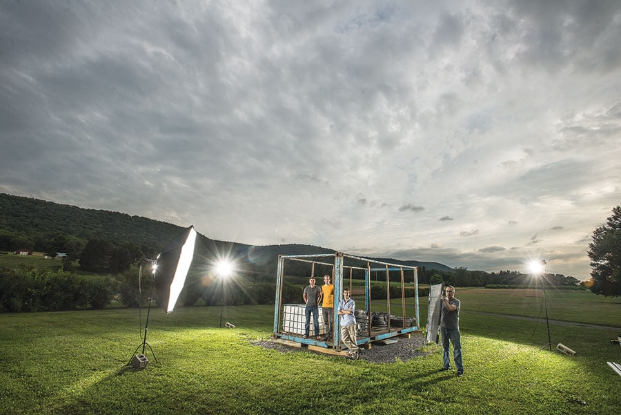 outdoor photo shoot