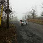 Vespa in the Fog