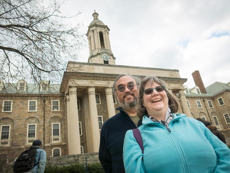 Richard and Bridget Machida at Penn State