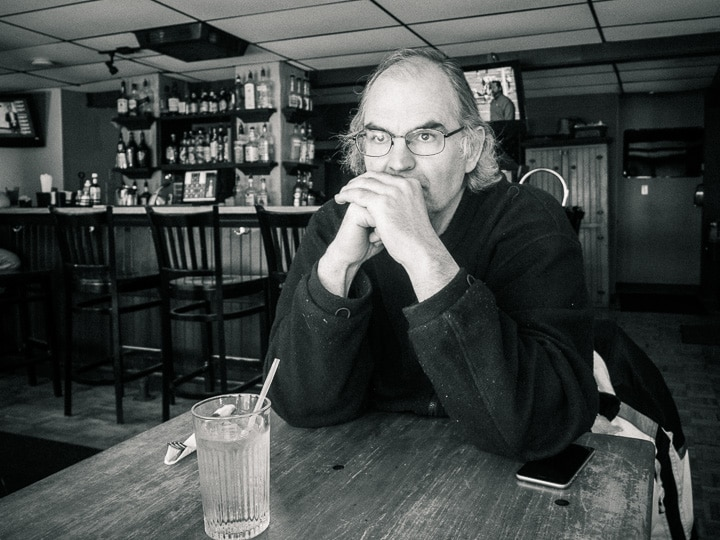 Portrait of Steve Williams at Waterfront Tavern in Lewistown, Pennsylvania