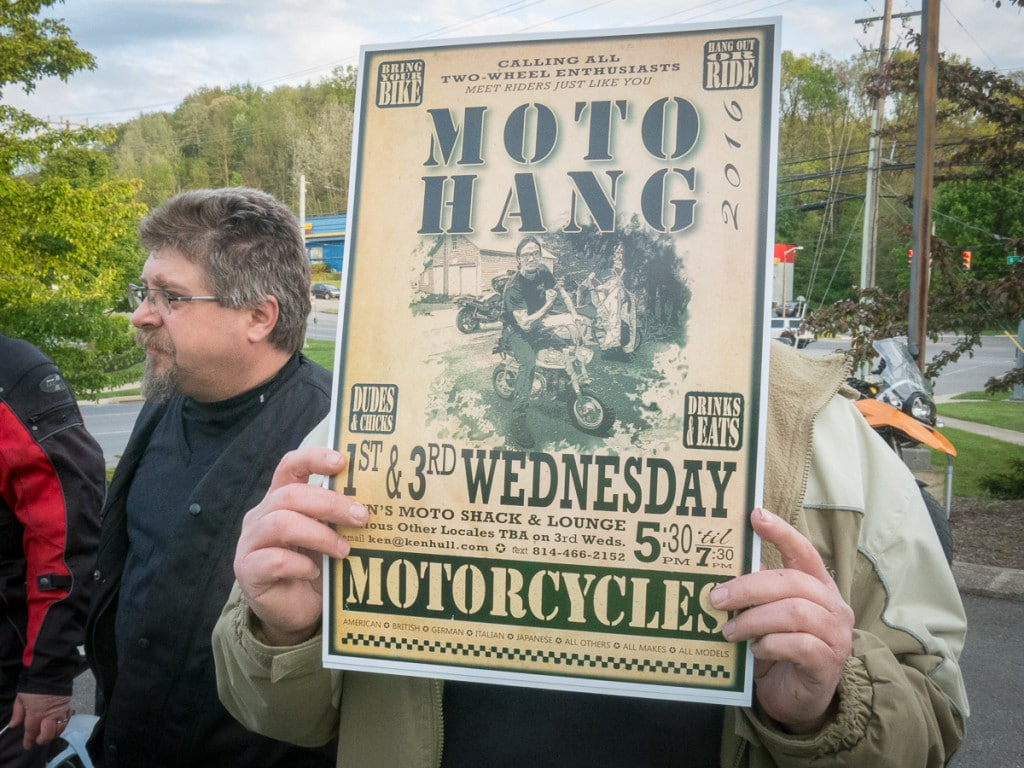 Boalsburg Moto Hang poster