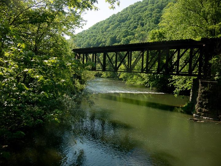 Railroad bridge over LIttle Juniata River