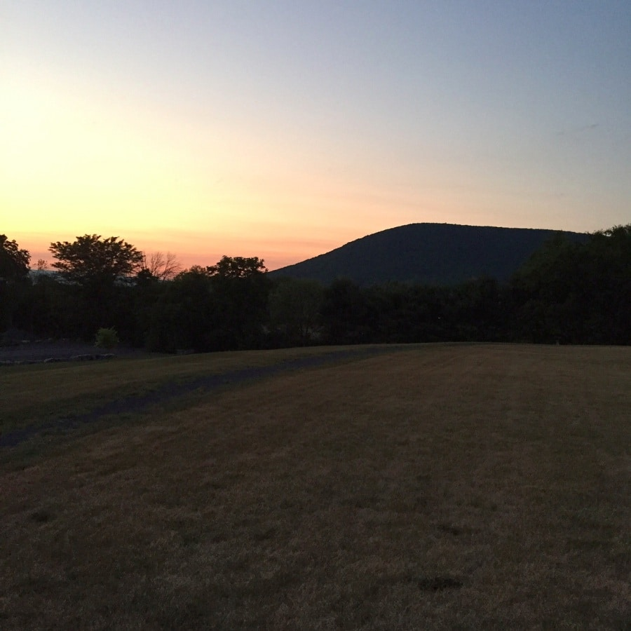 Sunset and Mount Nittany