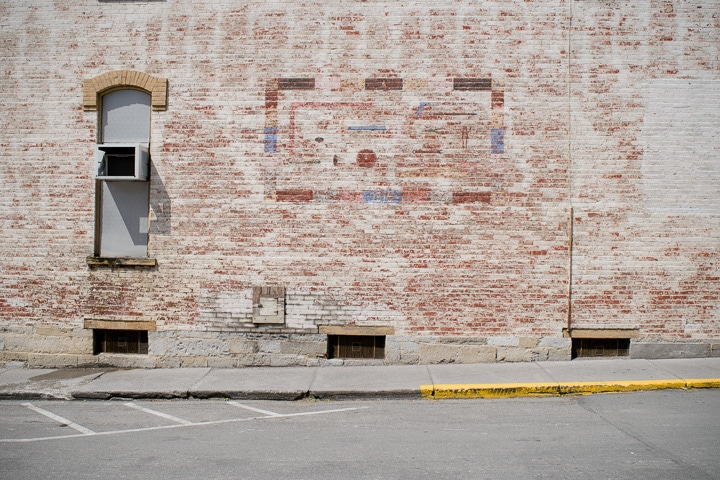 brick facade of a building in Millheim, Pennsylvania