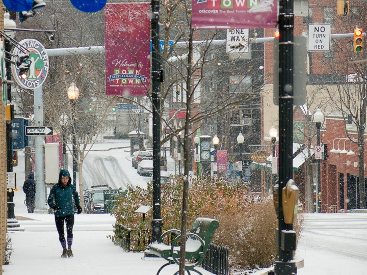 State College, Pennsylvania in winter