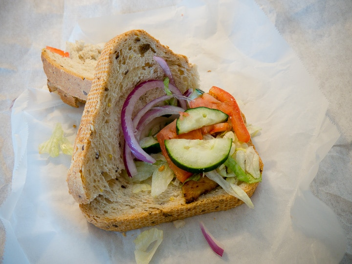 Sandwich with vegetables