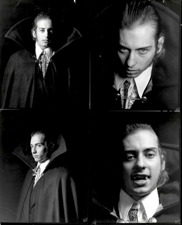 Man dressed as a vampire