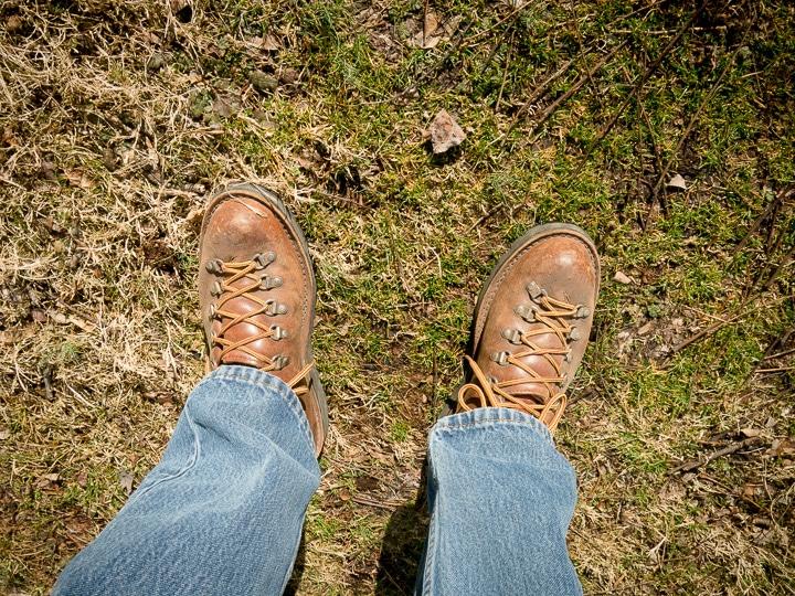 Danner boots on walker