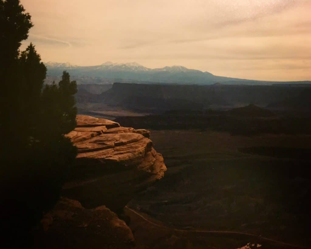 view of mountains south east of Moab Utah