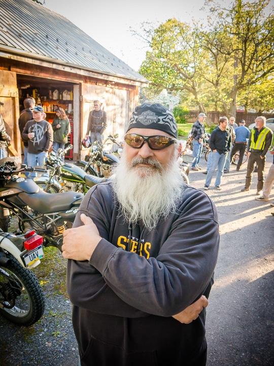 Harley Rider at Boalsburg Moto Hang