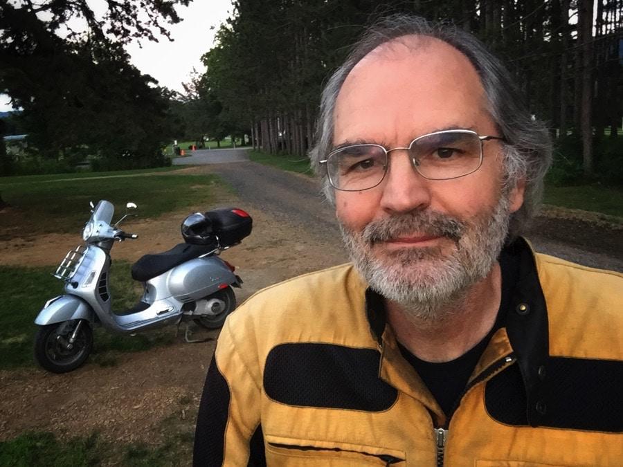 Steve Williams, Vespa rider and blogger.