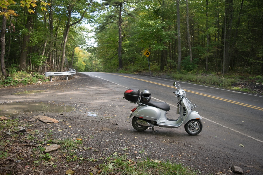 Vespa at the top of Nittany Mountain