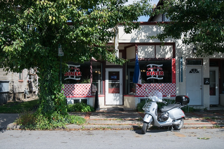 Peg and Bill's Diner in Williamsport, Pennsylvania