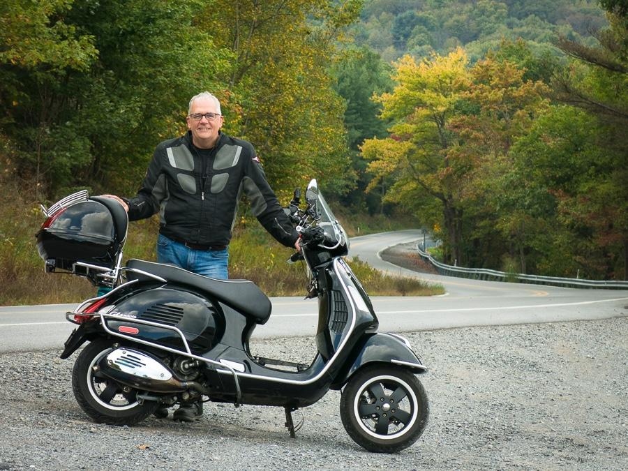 David Masse, Vespa rider and moto-blogger