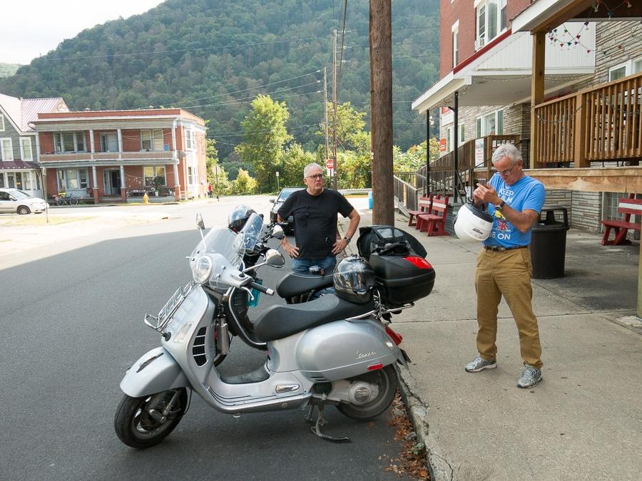 Vespa scooters in Renovo, Pennsylvania